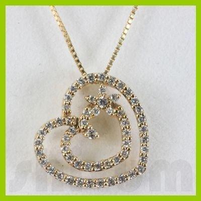 Genuine 0.35ctw Diamond Necklace 14K Gold 1.72g