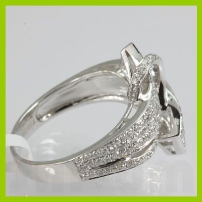 Genuine 0.78 ctw Diamond  Ring 18kt Gold-White