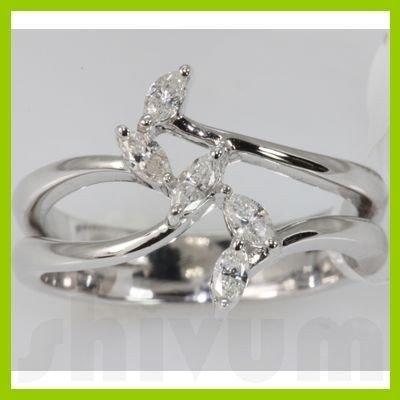 Genuine 0.32 ctw Diamond Ring 14K White Gold
