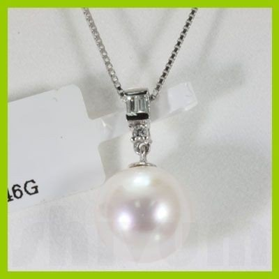 Genuine .058 ctw Fresh Water Pearl Diamond Necklace 14k