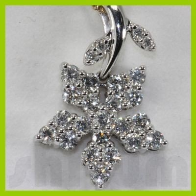 Genuine 0.91ctw Diamond Necklace 14k Gold 3.49g