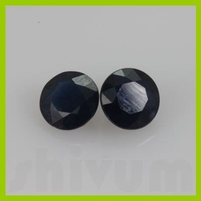 Natural Very Mice Blue Sapphire Round Cut 2pcs @$150/ct