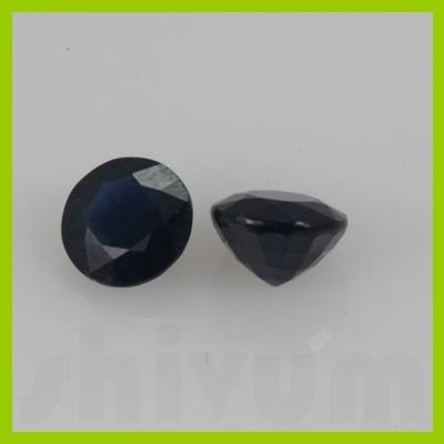 Natural Mice Blue Sapphire Round Cut 2 pcs/lot @$175/ct