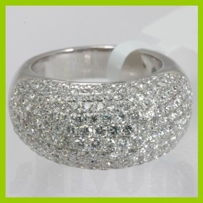 Genuine 3.95 ctw Anniversary Tappered Diamond Ring 18kt