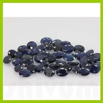 Natural Dark Sapphire Oval Cut 20 pcs/lot @$4.5/ct