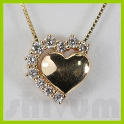 Genuine 0.35ctw Diamond Necklace 14K Gold 1.44g
