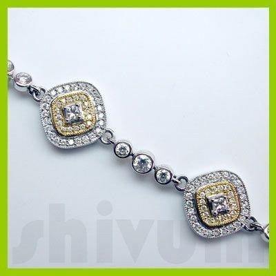 Genuine 1.81 ctw 14K Diamond Studded Fashion Bracelet