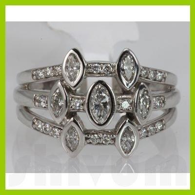 Genuine 0.62 ctw Diamond Ring 14K White Gold