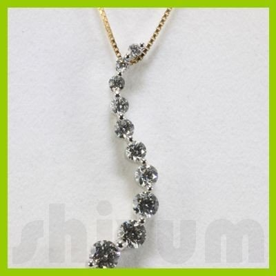 Genuine 1.04ctw Diamond Necklace 14k Gold 2.10g