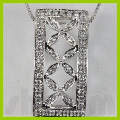 Genuine 0.26ctwDiamond Necklace 14K Gold 2.31g