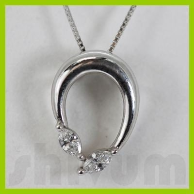 Genuine 0.24ctw Diamond Necklace 14k Gold 1.92g