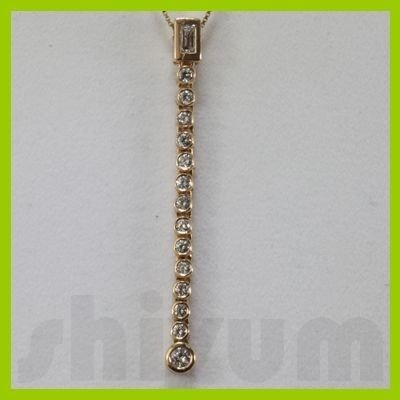 Genuine 0.57ctw Diamond Necklace 14k Gold 3.55g