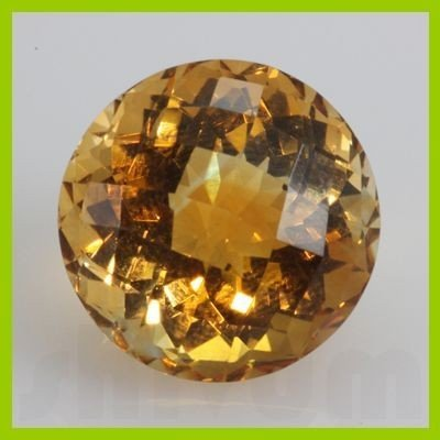 Natural Citrine Round Checkered Cut 16mm @5 USD/ct