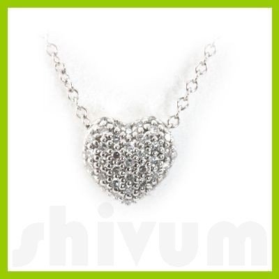 "Genuine 0.15 ctw 14k White Gold Necklace 16"" 1.71g"