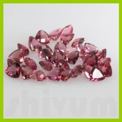 Natural Pink TourmalineTrillion Cut 35pcs/lot@25 USD/ct