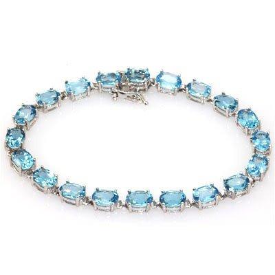 Genuine London Blue Topaz 17.00 ctw Bracelet 10KTGold