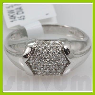 Genuine 0.36 ctw 14k Diamond White Gold Ring