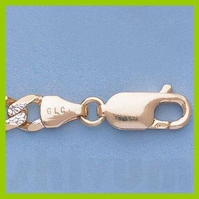 """Genuine 16"""" 14k  Gold-Yellow 5.1mm Rhod Figaro Chain"""