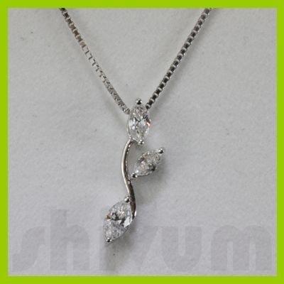 Genuine 0.31ctw Diamond Necklace 14k Gold 0.46g