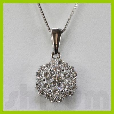 Genuine 1.23ctw Diamond Necklace 18k Gold 2.05g