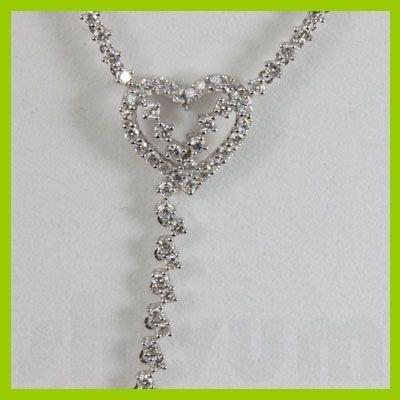 Genuine  5.27 ctw Diamond Necklace 18KT White Gold