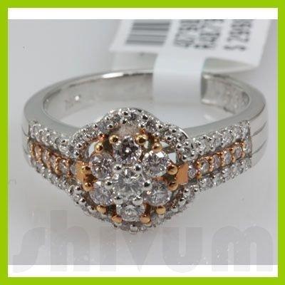 Genuine 0.8 ctw 18k Diamond White Gold Ring