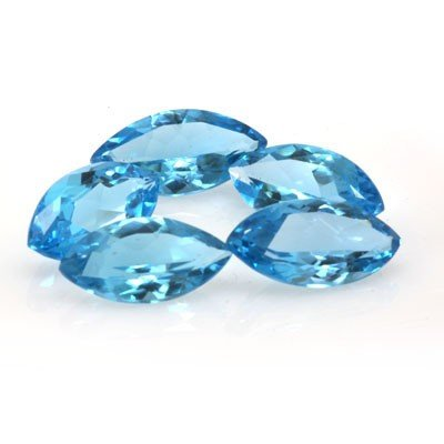 Natural Blue Topaz Marquise Cut 9x18mm estimated 5 pc p