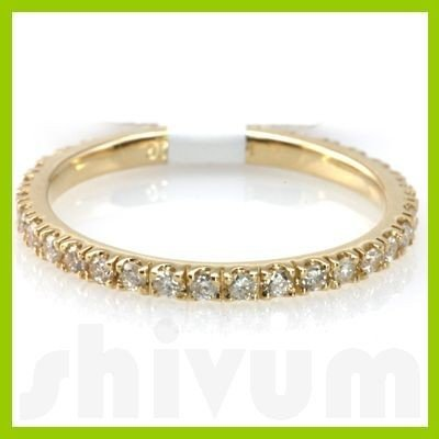 "Genuine 0.38 ctw 14k Yellow Gold Ring 16"" 1.28g"