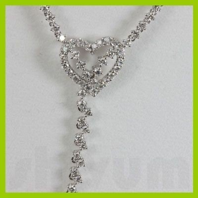 Genuine  5.27 ctw Diamond Necklace 18KT White Gold