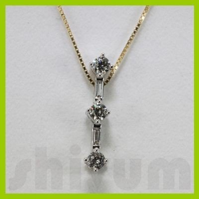 Genuine 0.49ctw Diamond Necklace 14k Gold 1.13g