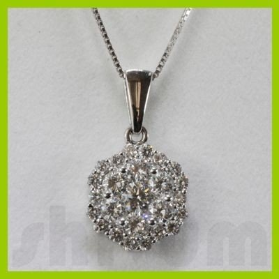 Genuine 1.23ctw Diamond Necklace 18k Gold 2.05g