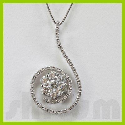 Genuine 1.04ctw Diamond Necklace 14k Gold 2.4g