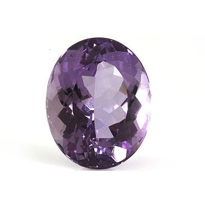 Natural Amethyst Checkered Oval Cut 22x28mm estimated 1