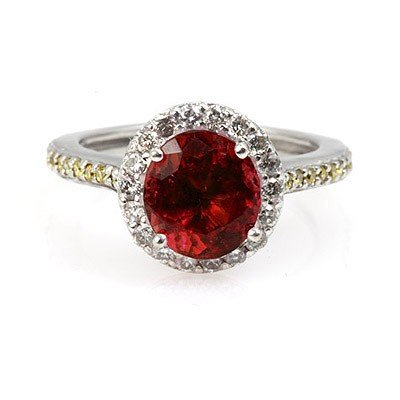 Genuine 2.30 Ctw Ruby Ring 14Kt White Or Yellow  Gold