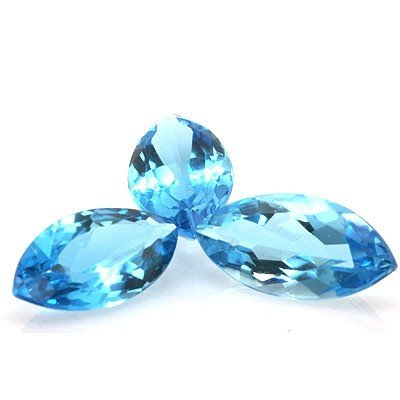 Natural Blue Topaz Marquise Cut 10x20mm estimated 3 pc