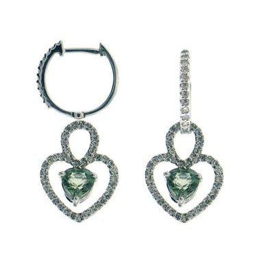 Genuine 14Kt Earrings 102 Single Diamonds 34Pts.  2 Gre