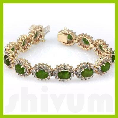 Genuine Vintage Design  24.47 ctw Peridot Bracelet  14K