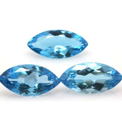 Natural Blue Topaz Marquise Cut 8x16mm estimated 3 pc p