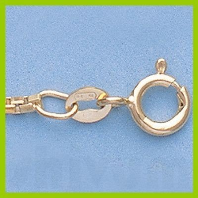"Genuine 16"" 14k  Gold-Yellow  1.7mm 8 Sided Box Chain"