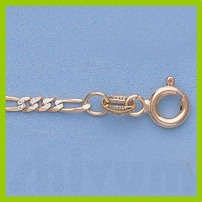 """Genuine 16"""" 14k  Gold-Yellow 2.2mm Rhod Figaro Chain"""