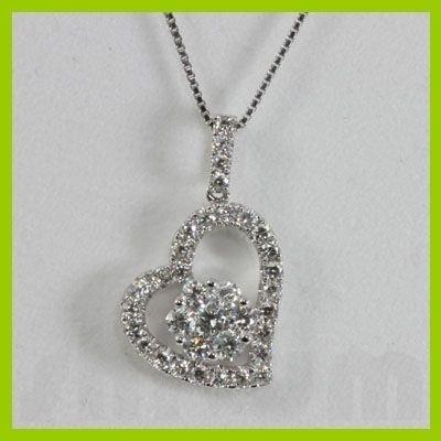 Genuine  0.75 ctw Diamond Necklace 18KT White Gold