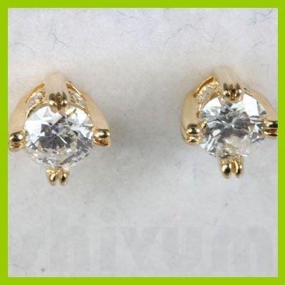 Genuine 0.42 ctw Diamond Stud Earring 18kt Gold-Yellow