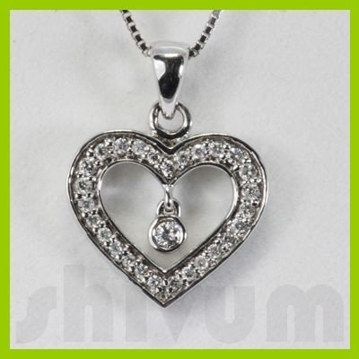 Genuine 0.19ctw Diamond Necklace 14K Gold 1.64g