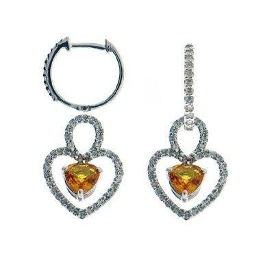 Genuine 14Kt Earrings 102 Single Diamonds 34Pts.  2 Yel