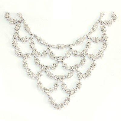 Genuine 10.74 Ctw Diamond Chandellier Design Necklace 1