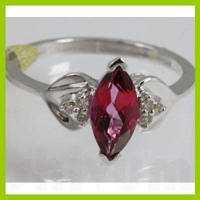 Genuine  2.01 ctw  Pink Rose  Ring  14KT White Gold
