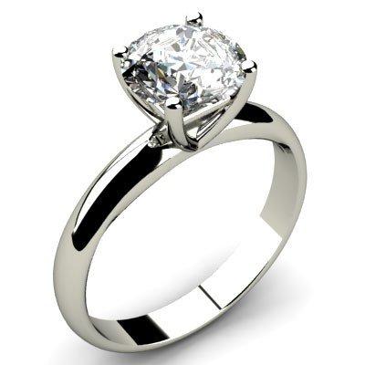 1.00 ct Round cut Diamond Solitaire Ring, F-G, VS