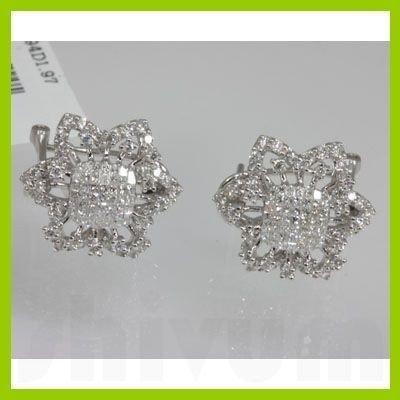 Genuine  1.97 ctw Diamond Earring 18KT White Gold