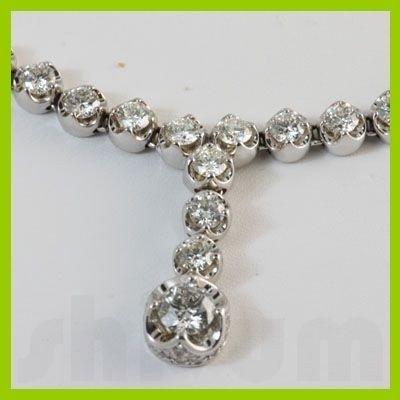 Genuine  5.91 ctw Diamond Necklace 14KT White Gold
