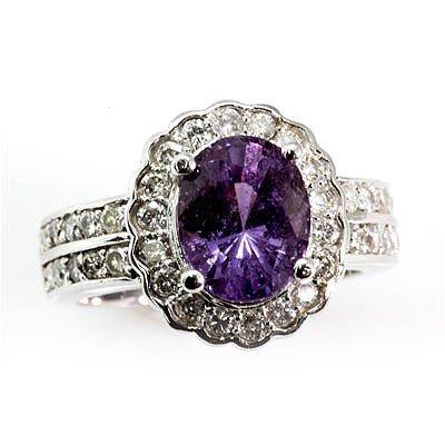 Genuine  Natural Purple Sapphire  4.68  ctw  Diamond Ri